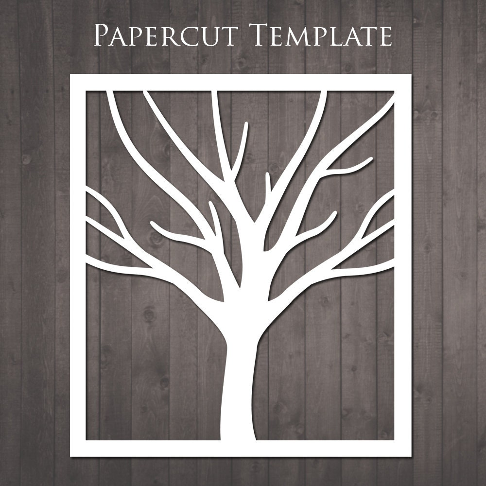 Tree Papercut Template - diy paper cut from RubyAndTheRabbit on Etsy ...