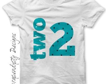 2nd Birthday Iron on Shirt PDF - Boys Iron on Transfer / DIY Second Birthday Shirt / Kids Boys Clothing Tops / Kids Numbers Shirts Tee IT56B