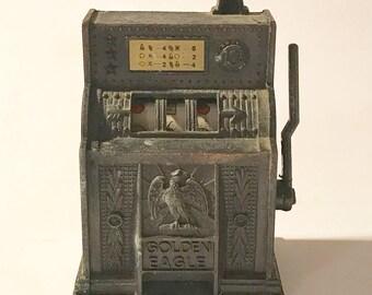 Slot machine die-cast Pencil sharpener old time slot machine