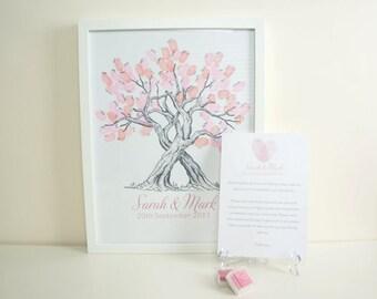 Custom Fingerprint Tree Guest Book for Weddings