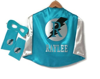 SUPERHERO CAPE - Kid Cape - Personalized Super Hero Cape - Superhero Costume - Superhero Cape Set - Superhero party - Armband - Cuffs - Mask