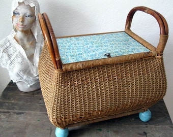 Vintage basketry chest
