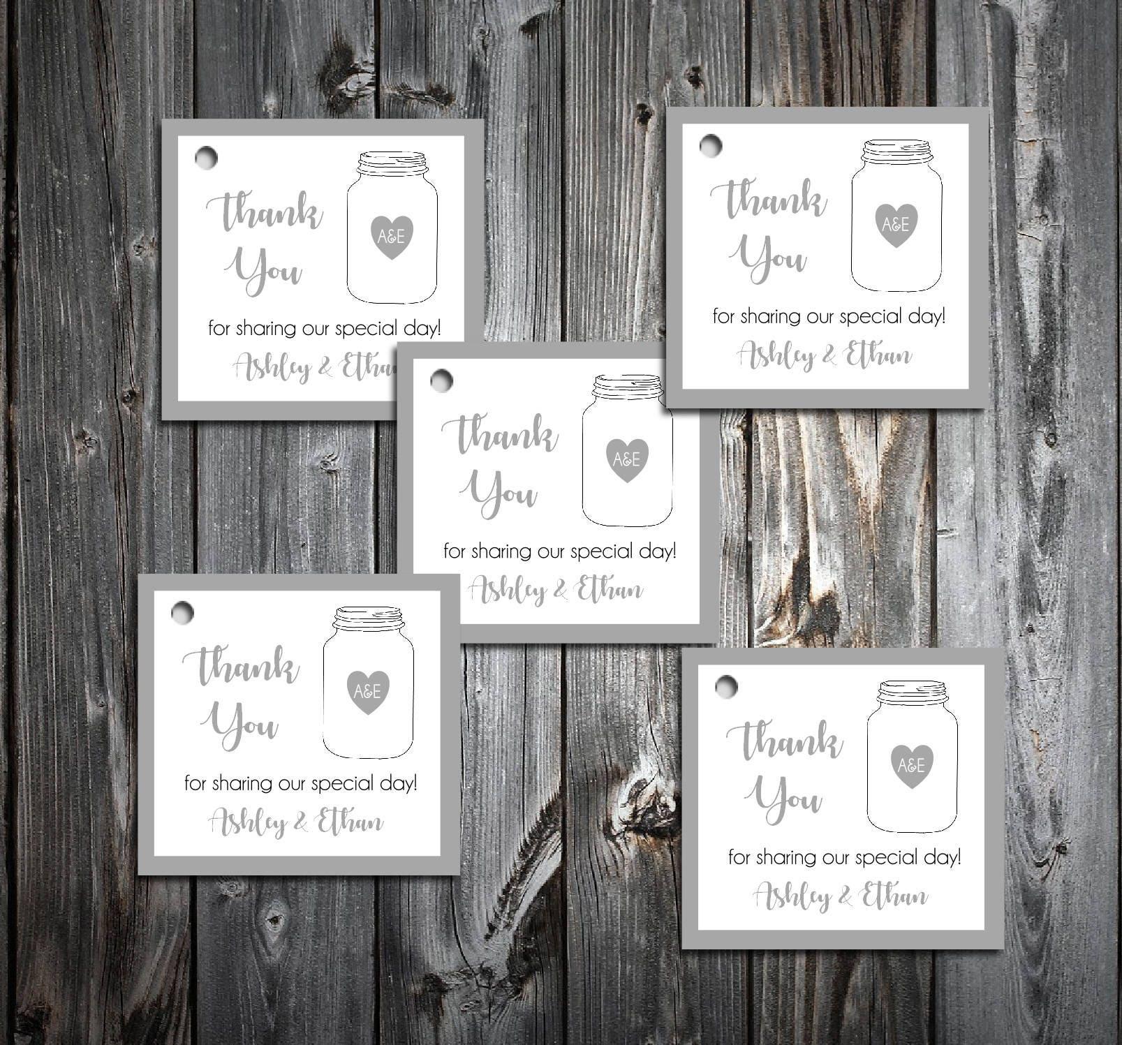 Modern Mason Jar Wedding Favor Tags Ornament - The Wedding Ideas ...