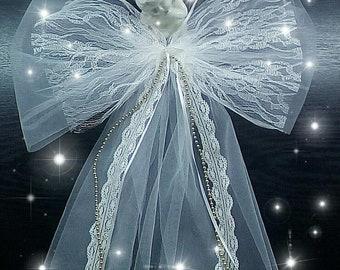 Wedding Pew Bow,wedding bow, Bridal shower Bow, Wedding churche bow, chair bow