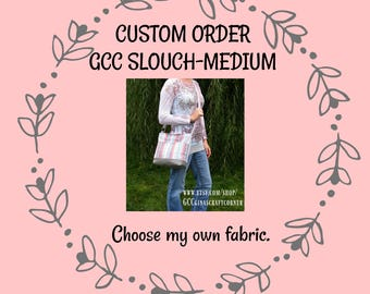 GCC Slouch, Crossbody, Medium Concealed Carry Purse-Made to Order