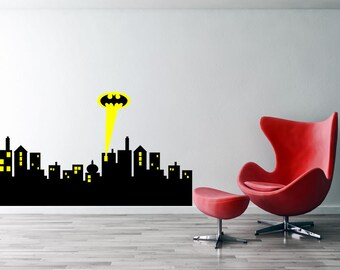 More Colors. Gotham City Skyline Batman Decal,castle Batman Wall ...