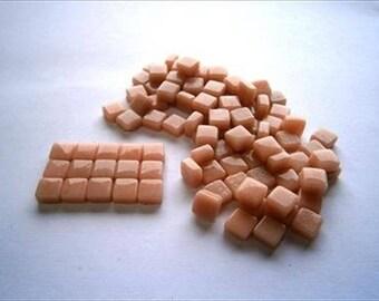 Micro Mosaic 8mm Tiles 100 pack Mosaic Heaven Micro Mosaic Tiles, Peach F3 Tesserae, Tessera.