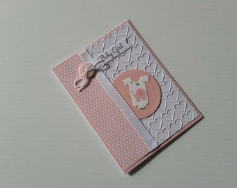 Handmade Baby Card | Baby Girl Card | New Baby Card