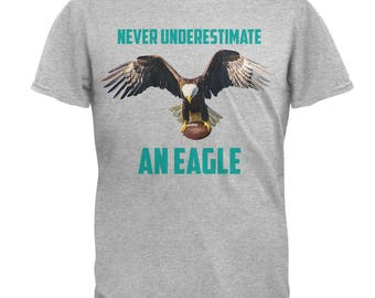 Never Underestimate An Eagle Flying Football Mens T Shirt