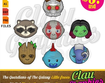 The Guardians of the Galaxy SVG patterns, DXF files, PNG images and editable file, cute patterns for papercraft projects and more