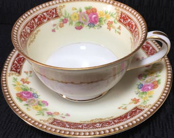 Gellee 3723 by Noritake M, tea cup and saucer