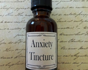 Anxiety Herbal Tincture  Anxiety Relief, Tension Aid, Emotional Upset, Panic Attack Relief, Anxiety Aid, Natural Anxiety Aid SALE
