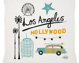 Los Angeles Tea Towel