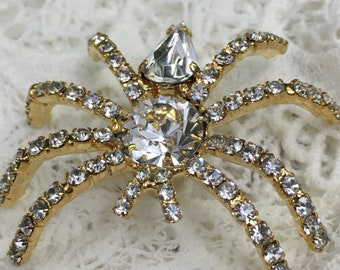 Crystal Large  Spider / insect  Brooch Pin