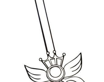 Sailor Moon Die Cut Vinyl Decal Sticker *Kaleidoscope Wand* -Iphone, Ipad, Laptop, Mirror, Car, Windows, etc