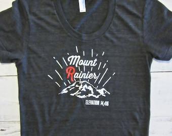 Womens Mount Rainier shirt. American apparel shirt. Mt Rainier t-shirt.