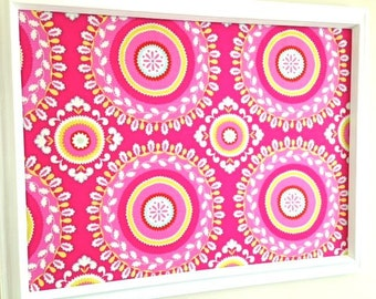 Go Retro Hot Pink Fabric Pin Board Jewelry Board