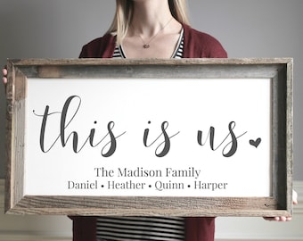Mothers Day Gift for Wife Wood Wedding Gift  Anniversary Gift for Wife Personalized Family Gift for Adoption Day Family Decor Adoption Gifts