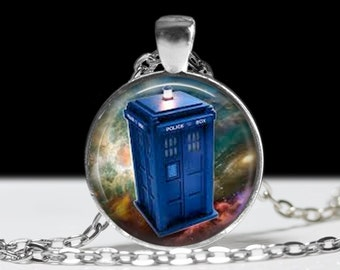 Dr Who Necklace Wearable Art Pendant Charm Dr Who Jewelry Tardis Jewelry