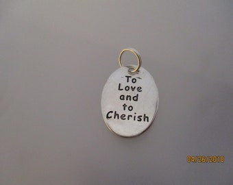 """Wedding """"To Love and To Cherish"""" Silvertone 50 ct. Charms"""