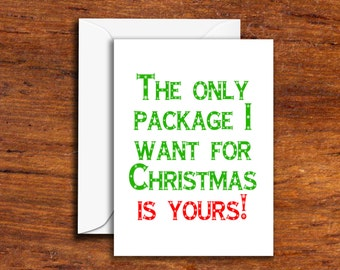 Holidays - Christmas - The Only Package I Want This Christmas Is Yours! - (Greeting Card - Funny Card - Novelty Card)