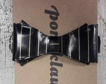 Patent leather paint fly Bowtie tie gold steampunk needle strips Pinestripe black Dark Gothic WGT