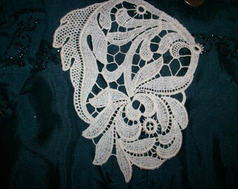 1 cotton 1920s antique lace applique