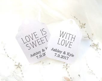 Custom Favor Tags - wedding favour tags - thank you tags - wedding thank you tags - wedding favor tags - favor tags