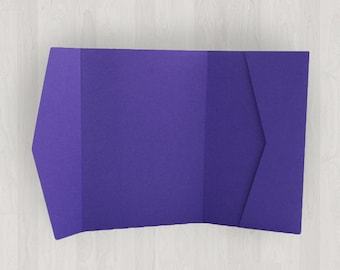 10 Horizontal Pocket Enclosures - Purple - DIY Invitations - Invitation Enclosures for Weddings and Other Events