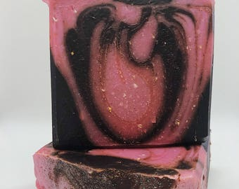 Chocolate Covered Strawberries-Handmade artisan goats milk soap-cold process soap