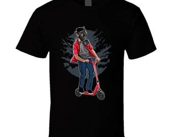 Gas Mask E-scooter Rider T Shirt