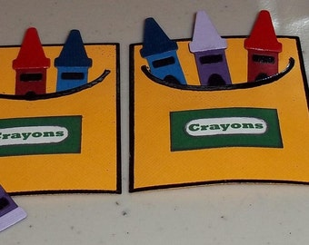 Crayons and Box - 2 sets to a pack
