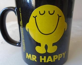 Mr Men 'Mr Happy Mug' roger Hargreaves 1995