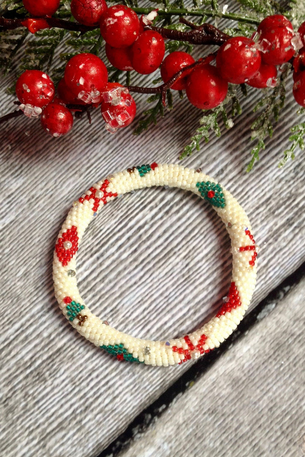 Holiday Ornament Bead Crochet Bracelet Pattern Bead Crochet Pattern ...