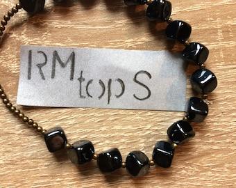Bracelet beads cube black lacquer copper unique bracelet beads cubes black copper communications