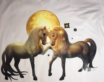 Moonlight Unicorns T-Shirt Adult M
