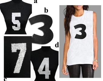 Numbers HotFix Applique Designs - for Fashion Crafts and Home Decor