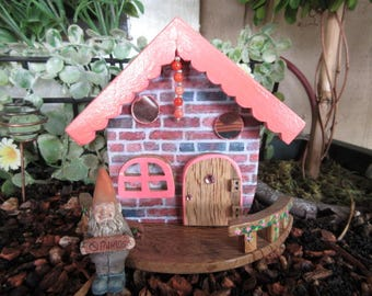 Fairy Garden Cottage miniature gnome home OOAK handmade gnome home house cottage door