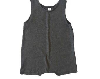Charcoal Short Sleeveless Romper | summer romper, harem romper, baby onesie, solid romper