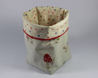 GIFT IDEA! The basket to store bathroom products or baby diapers.