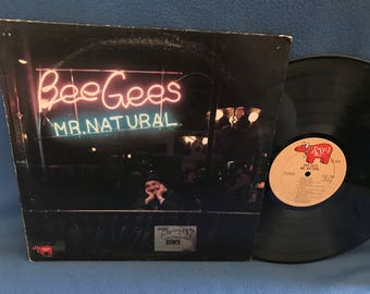 "Vintage, Bee Gees - ""Mr. Natural"", Vinyl LP, Record Album, Rock, Disco, Original 1975 Press, Charade, Down The Road, Robin, Barry Gibb"