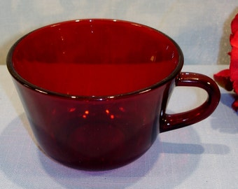 Royal Ruby by Anchor Hocking Cup