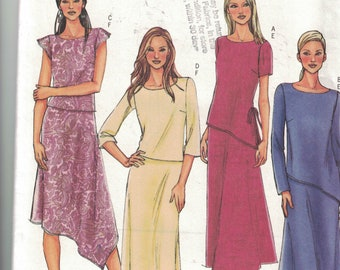 Butterick 4064 Vintage  Pattern Womens Top and  Skirt Size 8,10,12 UNCUT