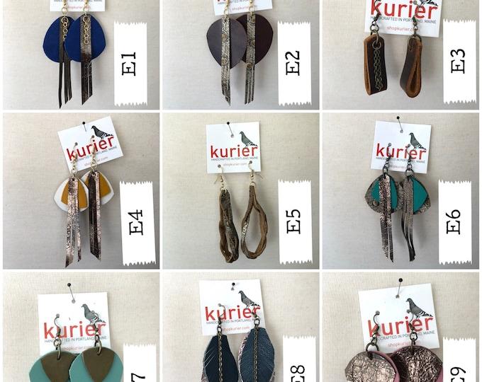 Unique leather earrings