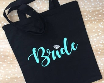 Bride Tote Bag - Custom Tote - Personalized Tote Bag - Bridal Shower - Bridal Gifts - Bridesmaids Gifts
