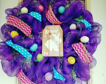 Purple/multi color Spring Easter Wreath 18-inch