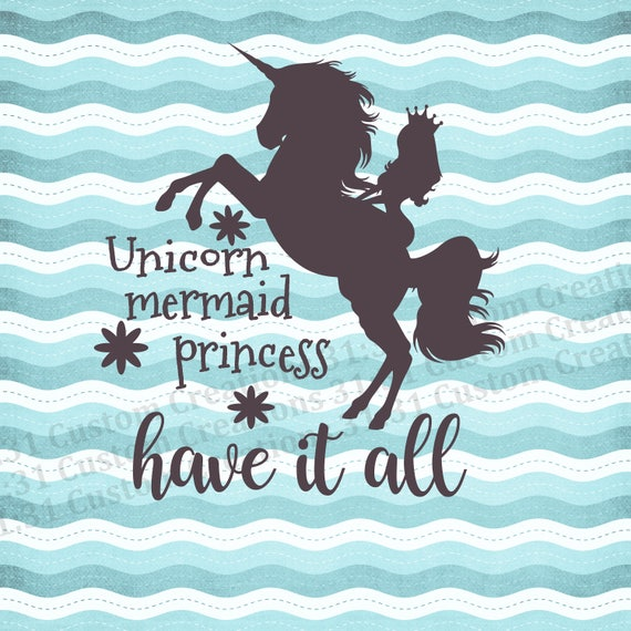 unicorn mermaid princess svg unicorn svg mermaid svg