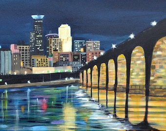 Stone Arch Bridge Minneapolis  Print