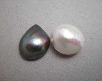 Mabe Pearl / Only White Mabe Available/ Iridescent Mabe