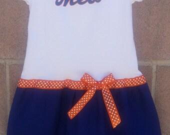 New York Mets inspired tee dress